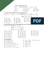Ecuatia de Gradul Al II-Lea Exercitii + Modele