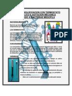 Batea de Biolixiviacion Con Termostato Bimetalico y Agitacion Mecanica