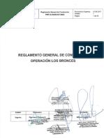 Reglamento General de Conducción Operación Los Bronces ( Firmado )