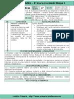 CZ-Plan 4to Grado - Bloque 4 Matematicas (2016-2017)