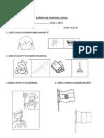 Examen Mensual de Personal Social2015
