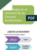 La Ecología en el contexto de las Ciencias Ambientales