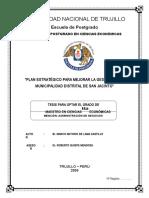 23627546 Plan Estrategico Para Mejorar La Gestion en La Municipalidad Distrital de San Jacinto