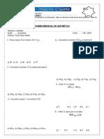 Examen Mensual de Aritmética 1-2 Sec