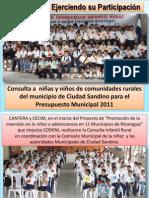 Primer Consulta Infantil Rural 2010