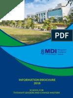 MDIM Admission Brochure