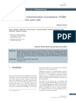 Fabrication and Characterization of Polysilane PCBM Bulk Heterojunction Solar Cells