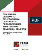 Evaluación de Impacto Soporte Pedagogico 22017 GRADE