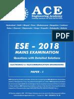 EC Mains-2018 Paper-1 Solutions