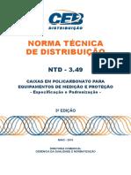 Ntd 3.49 3ed - Caixas Em Policarbonato Para Eqtos Medicao e Protecao
