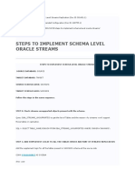 Stream - Steps to Implement Schema Level Oracle