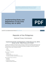 Privacy Gov Ph Implementing Rules and Regulations of Republi