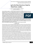 Secure Auditing for the Data Stored on Cloud by Third Party Auditor