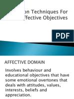 Evaluation Techniques for Affective Objectives