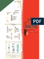 Kon-Tiki Drinks Menu Page 1