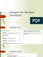 Answers for Revision Questions