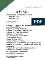 AVISO_UCSAL Prova Desnho de c c 2010.2