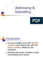 IP Addressing & Subnetting Networks