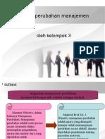 proses perubahan manajemen