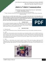 VLC based Vehicle to Vehicle Communication