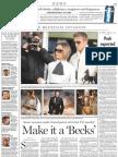 Make it a 'Becks' A3, National Post, Jan. 12, 2007