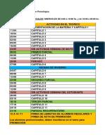 Cronograma Teóricos Metología de la Inv Psicológica