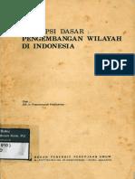 1982 Konsepsi Dasar Pengembangan Wilayah Di Indonesia