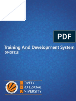 Dmgt518 Training and Development System