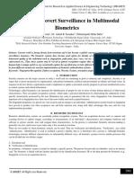 A Study of Covert Surveillance in Multimodal Biometrics