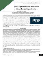 Dynamic Analysis & Optimization of Prestressed Concrete Box Girder Bridge Superstructure