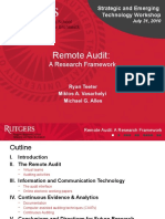 Remote Audit - AAA 2010 - SET Workshop