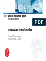 Introduction to Maritime Law (August 2015)