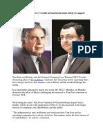 Tata Sons Welcomes NCLT Verdict in Boardroom Feud