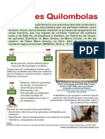 Mulheres Quilombolas - Infográfico