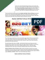 828Bet - Bandar Judi Bola Terbesar Di Dunia.docx