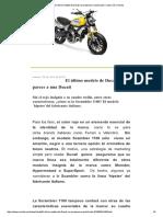 El Último Modelo de Ducati No Se Parece a Una Ducati