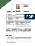 Silabo Desarrollo Social y Personal 2017