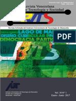 REVISTA ARBITRADA DE TECNOLOGÍA Y SOCIEDAD_10 n°1