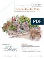 Deck Side Container Garden Plan