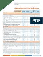 Scala Weiss de Evaluare a Afectarii Functionale - Raportata de Parinti