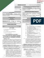 Ley que modifica la Ley 28977 Ley de Facilitación del Comercio Exterior y la Ley 30264 Ley que Establece Medidas para Promover el Crecimiento Económico