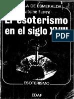 El Esoterismo en El Siglo XVIII - Antoine Faivre (V3)