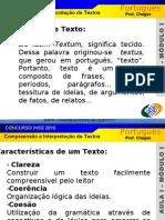 SLIDE 01 - COMPREENSÃO E INTERPRETAÇÃO DE TEXTOS E TIPOLOGIA TEXTUAL - INSS