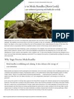 A Beginner's Guide to Mula Bandha (Root Lock)