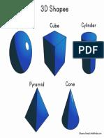 3d Shapes Sheet