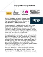 Press Release - Young Leaders #Iwill Funding Final