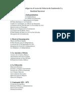 Temas Para Investigar en El Curso de Historia de Guatemala II