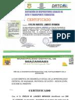 Certificado Evelyn Landeo
