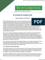 (Web) Red de Ecología Social. GUDYNAS; EVIA. El Concepto de Ecología Social