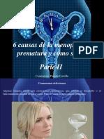 Constantino Parente Castillo - 6 Causas de La Menopausia Prematura y Cómo Se Da, Parte II